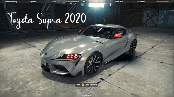 Toyota Supra 2020 – Car Mechanic Simulator 2018 mods
